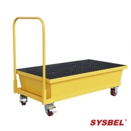 Spill Pallet|Mobile Steel Spill Pallet(with cart)